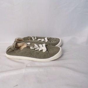 Roxy Surf Sneaker Athletic Women gray shoes Sz 8.5